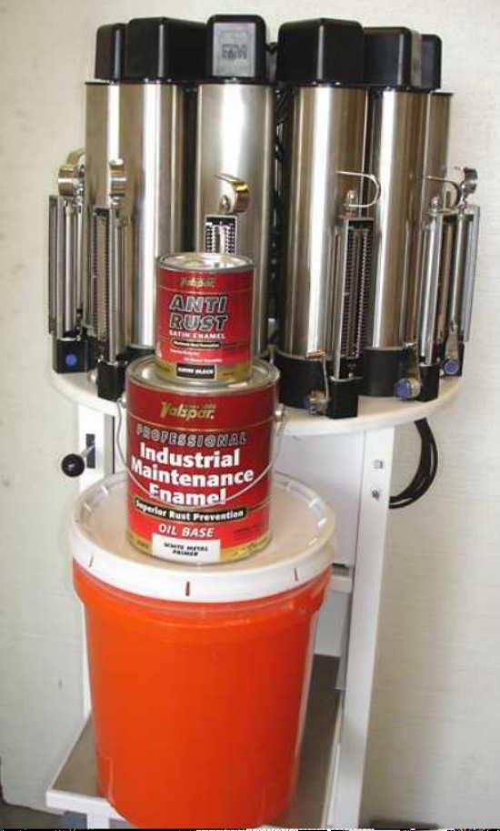 HARBIL NSC 80 PAINT Colorant DISPENSER CANISTER W// Mixer Top Mix CLEAN!